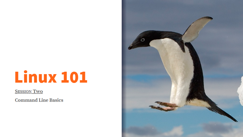 Linux 101 Slide Deck: Session Two